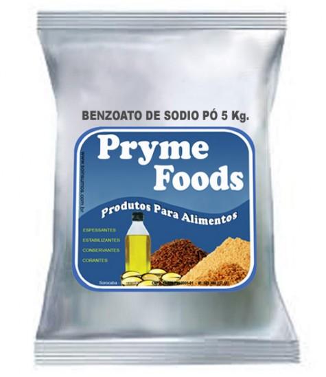 BENZOATO DE SODIO Po 5Kg Quilo Conservantes Produtos para alimentos