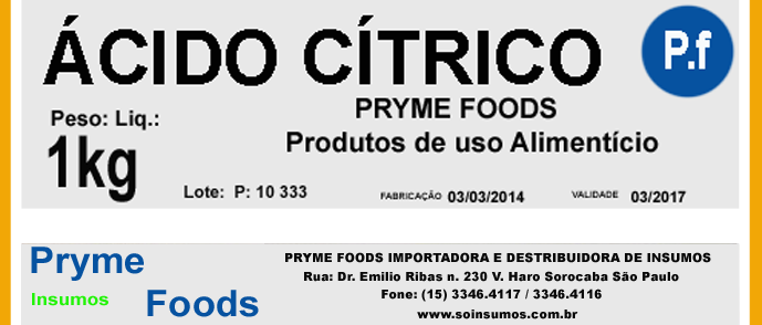 Acido Cítrico 1 Quilo Kg