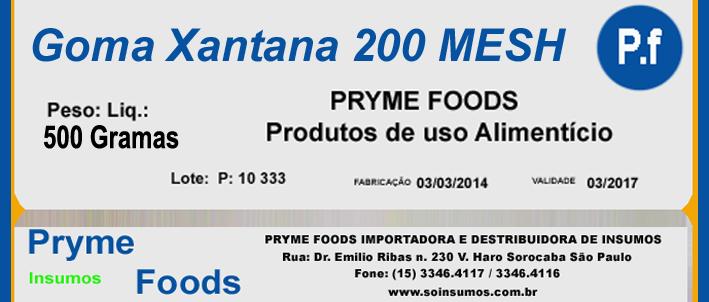 Goma Xantana 200 MESH 500 Gramas Insumos Para Alimentos Fracionados por Quilos e Gramas