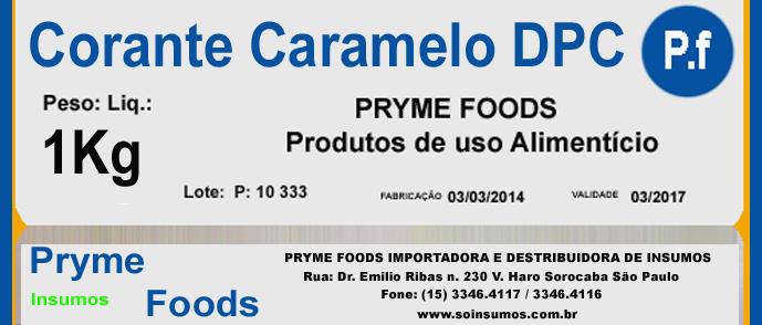 CORANTE CARAMELO em Pó DPC 1 kg Quilo Insumos para alimentos fracionados por Kg ou Gramas