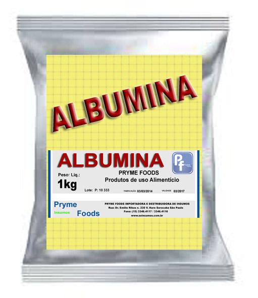 ALBUMINA 1 Kg Quilo Pura SUPLEMENTO ALIMENTAR Insumos Produtos para alimentos