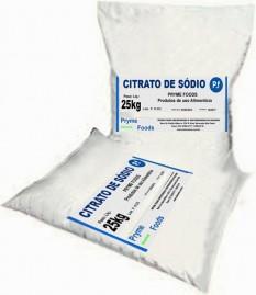 CITRATO DE SODIO 25 kg Citrato de sodio fracionado por quilo Conservante e estabilizante