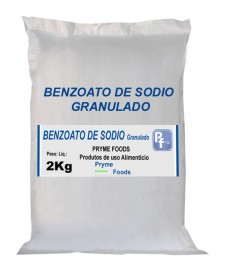 BENZOATO DE SODIO GRANULADO 2Kg Conservante bactericida e fungicida
