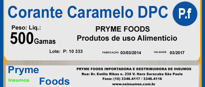 CORANTE CARAMELO em Po DPV 500 Gramas Insumos para alimentos fracionados por Kg ou Gramas