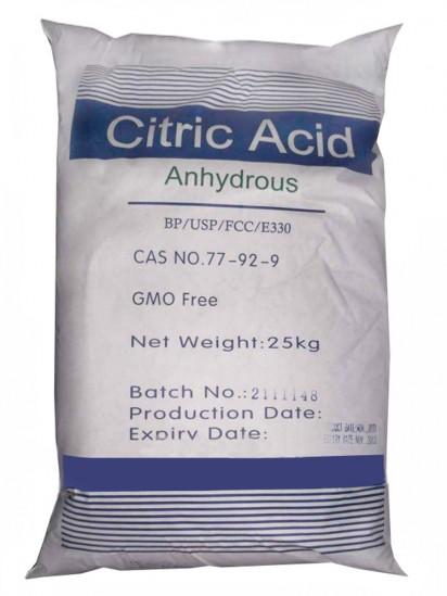 ACIDO CITRICO Anidro 25 Kg Quilo produto para alimentos Materia Prima Alimentar
