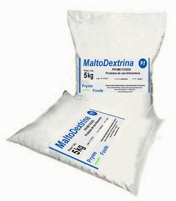 Malto Dextrina 5 Kg Quilo PURA Insumos Produtos para alimentos