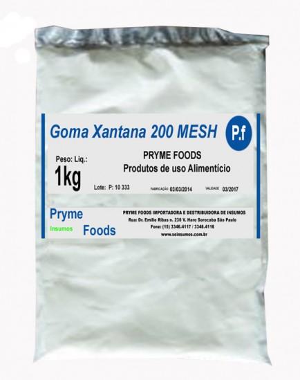 Goma Xantana 200 MESH 1 Kg Quilo Insumos Para Alimentos Fracionados por Quilos e Gramas