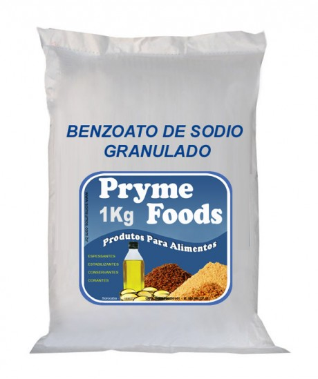 BENZOATO DE SODIO GRANULADO 1Kg Conservante bactericida e fungicida