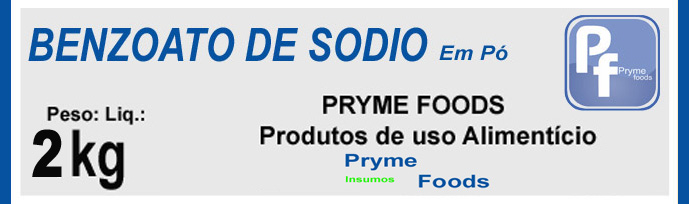 BENZOATO DE SODIO PO 2Kg Quilo Conservantes Produtos para alimentos
