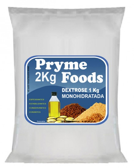 DEXTROSE MONOHIDRATADA 2Kg Quilo Pura Produtos para alimentos