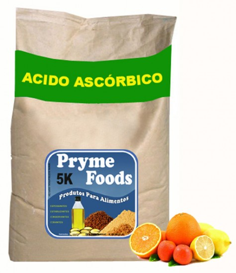 ACIDO ASCORBICO EM PO 5K Materia prima Produtos para alimentos Vitamina C