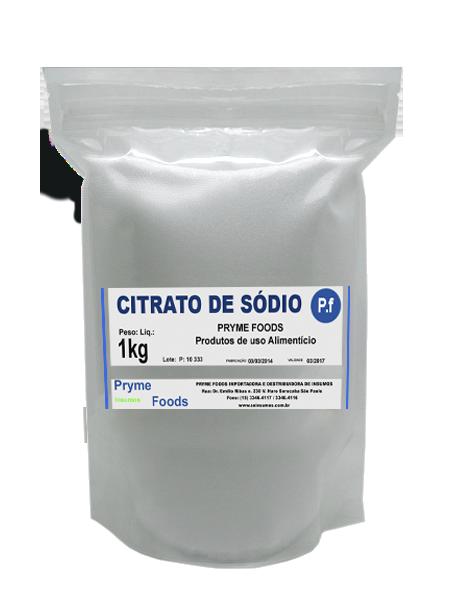 CITRATO DE SODIO 1 kg Citrato de sodio fracionado por quilo Conservante e estabilizante
