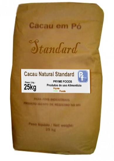 CACAU EM PÓ NATURAL STANDARD 25KG, Po de Cacau natural standard 25 Quilos