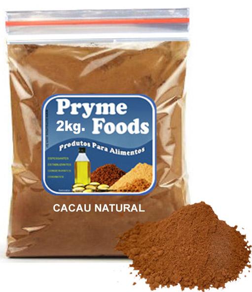CACAU EM PO NATURAL 2Kg Po de Cacau Natural