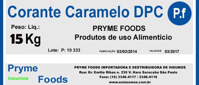 CORANTE CARAMELO em Pó DPV 15 kg Quilo Insumos para alimentos fracionados por Kg ou Gramas